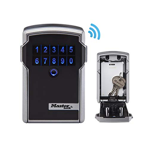 Master Lock 5441EURD Bluetooth Schlüsseltresor [Large] [Wandmontage] - Sicherer und Intelligenter Schlüsselsafe, 9 V, Schwarz
