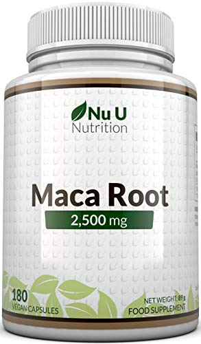 Maca Root Capsules 2500mg | 180 Capsules (6 Month's Supply), Maca Root Supplement Made in The UK