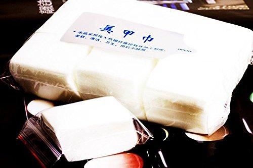 Les conseils 800pcs d'art d'ongle le coton propre de lingettes de dissolvant de manucure nettoient le papier(800pcs Nail Art Tips Manicure Polish Remover Clean Cotton Wipes Paper)