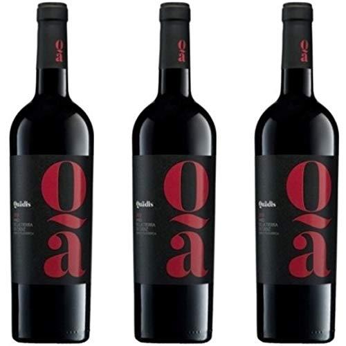 Quadis Crianza Vino Tinto Con Crianza En Barrica - 3 botellas x 750ml - total: 2250 ml