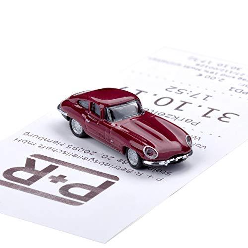 corpus delicti :: Magnetischer Parkscheinhalter für das Armaturenbrett – Modellauto mit Magnet und Selbstklebender Haftscheibe – Kultauto Jaguar E-Type (20.10-12)