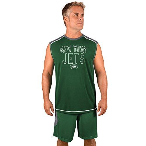 NFL New York Jets Adult men NFL Plus S/Synthetic Muscle,2XT,Storm Grey/Dk Green