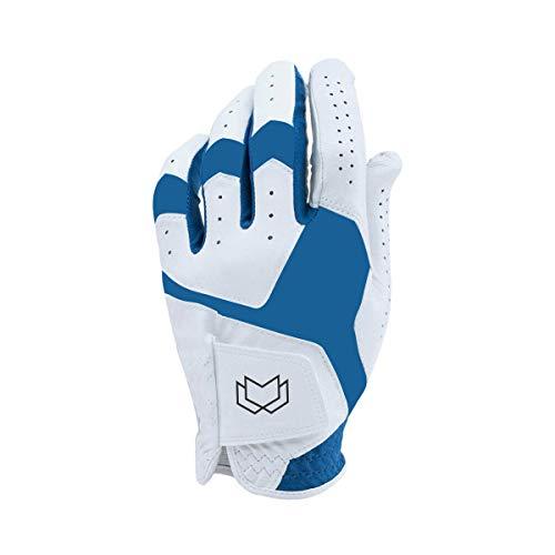 West WOOD Fox WFX - Guantes de golf de piel UA CoolSwitch para hombre (azul, mediano)