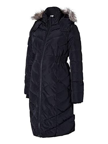 MAMALICIOUS Damen Parka Umstands Mantel New Camper Coat, Gr. 36 (Herstellergröße: S), Schwarz