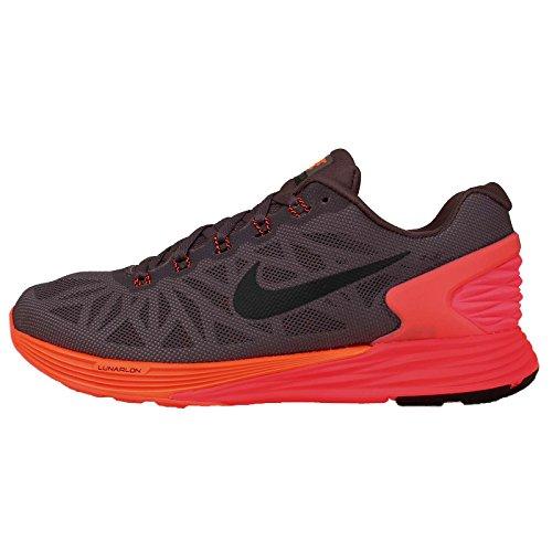 Nike Women's Wmns Lunarglide 6 , VIOLET ORE/BLACK-HYPER CRIMSON, 5 M US