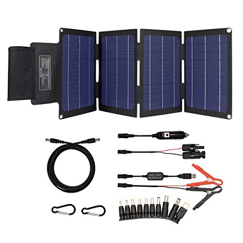 TP-solar 30W Portable Foldable Solar Panel Battery Charger Kit for Portable Power Station Generator Cell Phone Tablet Laptop 12V RV Boat Car Battery Charging