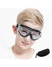 Okulary ochronne dla dzieci do gier Nerf, odporne na uderzenia, okulary balistyczne, nie parują, regulowany pasek, dopasowanie dla chłopców i dziewczynek, na imprezę urodzinową, kolor czarny
