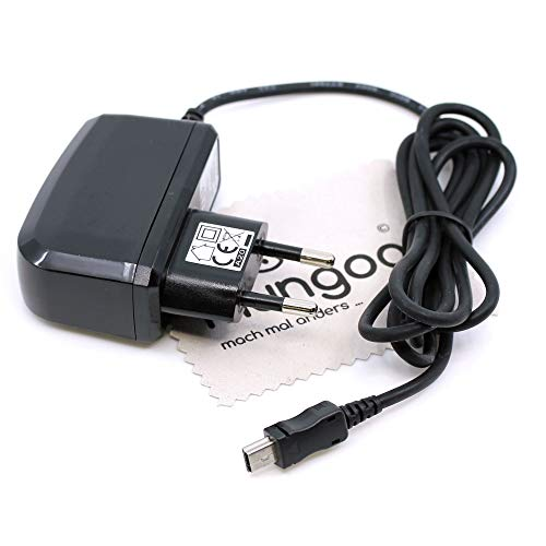 Cargador para navegador Garmin Forerunner 205, Forerunner 301, Forerunner 305, Foretrex 301, GPS 60, GPS 72H, cable de carga mini USB, cargador de red OTB con paño de limpieza de pantalla