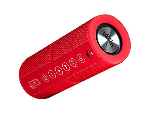 Vieta VM-BS39RD - Altavoz inalámbrico portátil con Bluetooth, color rojo
