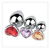 Z-one 1 3Pcs Love Heart Metal Jeweled Trainer para hombres y mujeres Ejercicio (color como se muestra)