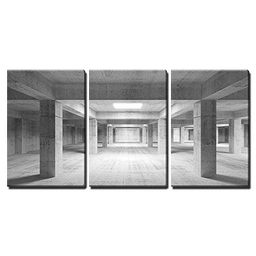 wall26 Concrete Industrial Interior - Canvas Art Wall Art - 24'x36'x3 Panels