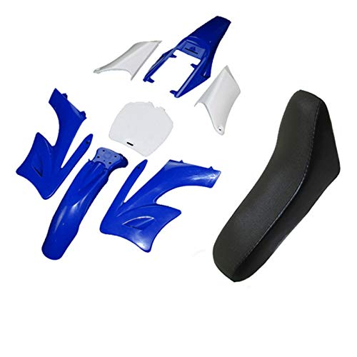 Carenado Kits de carenado de fábricos de plástico 7 piezas Asiento de espuma Ajuste para chino 2 tiempos 47cc 49cc Apollo Orion Mini Dirt Bike Kids Minimoto (Color : Blue)