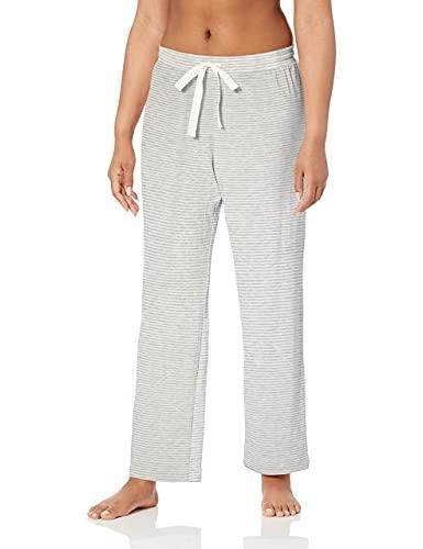 Amazon Essentials - Pantalón - para mujer gris Grey Heather Stripe M