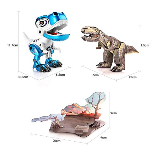 3D DINOSAUR PUZZLE WITH ELECTRIC DINOSAUR TOYS