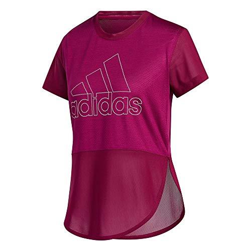 adidas TRgfxBLB tee 1W Camiseta, Mujer, Bayint, M