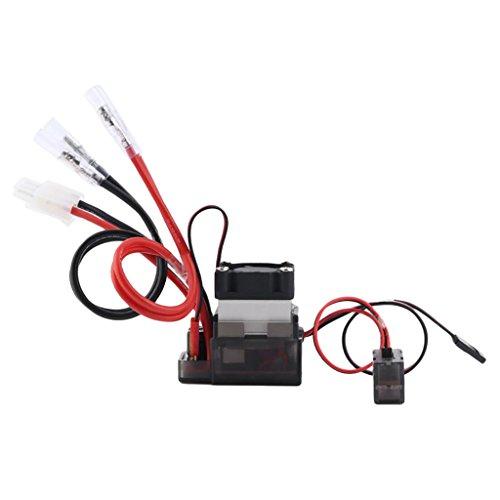 SM SunniMix Controlador de Velocidad Cepillado 320A ESC - RC ESC con Ventiladores de Refrigeración / Freno / Marcha Atrás para