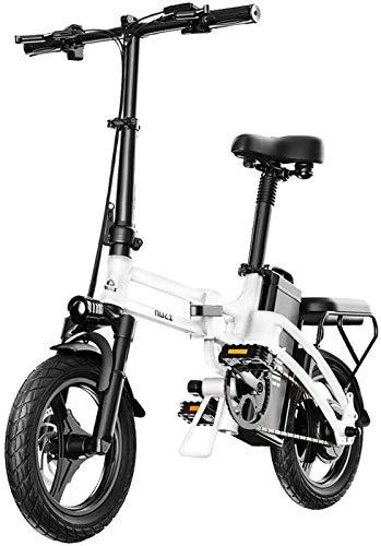 Bicicleta eléctrica de nieve, Bicicleta eléctrica for los adultos, conmuta plegable bicicleta eléctrica E-bici Con Motor 400W, 14 pulgadas batería de litio de 48V 25Ah Ebike con, Ciudad de bicicletas