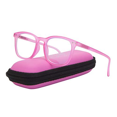 EYEGUARD Blaulicht-blockierende Brille für Kinder, Gaming-Computerbrille für Jungen und Mädchen im Alter von 5–9 Jahren, blendfrei, Augenbelastung und UV-Strahlen Filter (Pink)
