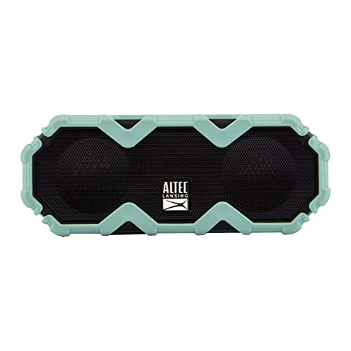 Altec Lansing IMW479 Mini LifeJacket Jolt Heavy Duty Rugged Waterproof Ultra Portable Bluetooth Speaker up to 16 Hours of Battery Life, 100FT Wireless Range and Voice Assistant (Mint Green)