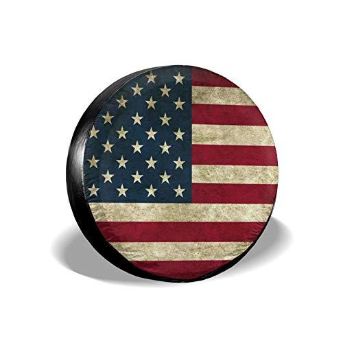 Cubierta de repuesto de la bandera americana, impermeable, a prueba de polvo, UV, cubierta de neumático para Jeep, remolque, RV, SUV y muchos vehículos de 15 pulgadas