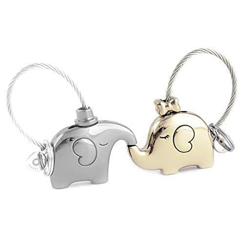DWWW Charmante Chinese Valentin Dag Valentijn & Dag Gift Object Paar Auto Ketting Creatieve Olifant Hanger Sleutelhanger Fashion Cirkel