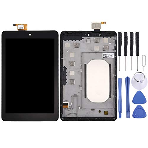 Mju Replacement Screen Glass Screen Replacement Kit voor Dell Venue 8 3830 LCD-scherm + touchscreen met frame (zwart) gemonteerd LCD-scherm, Zwart