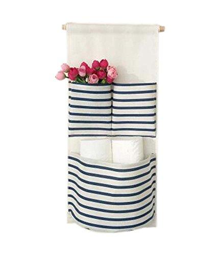 Sac de rangement mural de style simple Deux sac de rangement pour petit sac, bleu