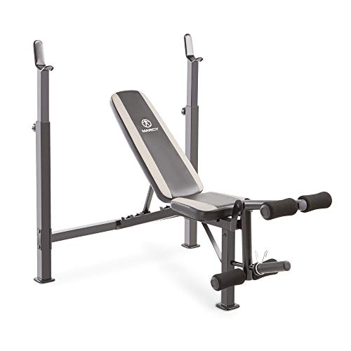 Marcy Olympic Bench – Dual-Function Leg Developer and Barbell Crutch MWB-4491