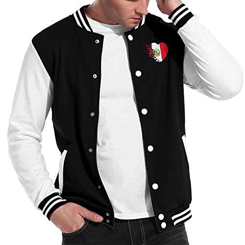wwoman Peru Flag Love Heart Chaqueta de béisbol Uniforme, Hombres Mujeres Varsity Premium Jacket Sport Coat,XXS