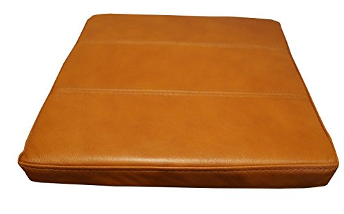 Quattro Meble Cognacfarbe Echtleder Sitzkissen Lederkissen Sitzpolster fur Sessel Stuhle Echt Leder Kissen Sitzauflage Auflage Modell 3P (40 x 30 cm)