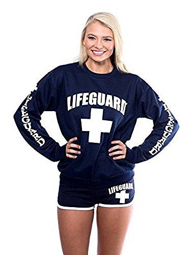 Lifeguro Sweatshirt mit Rundhalsausschnitt, für Damen, Teenager, Mädchen, Damen, Rot - Rot - X-Groß