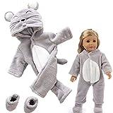 mxjeeio Einteiliger Puppen-Overall Puppenbekleidung - Bekleidungs- und Zubehörset für Babypuppen...