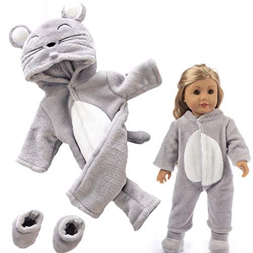 mxjeeio Einteiliger Puppen-Overall Puppenbekleidung - Bekleidungs- und Zubehörset für Babypuppen 40-48cm