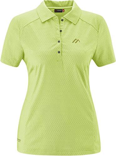 Maier Sports Pandy Polo Shirt Damen LightGreen Allover Größe EU 48 2020...