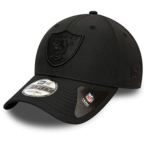 New Era NFL Winter Script 9Forty Adjustable Cap Oakland Raiders Schwarz, Size:ONE Size