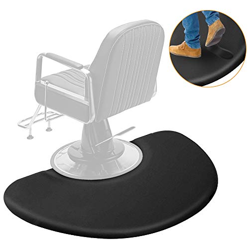 3 ft. x 4 ft. Salon Mat,Anti Fatigue Salon Floor Mat for Hair Stylist,Salon Barber Chair Barber Stations,Non Slip,Waterproof,High-Heel Proof,1/2 inch Thick (1/2 inch)