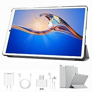 Tablet 10 Pulgadas 4 GB RAM 64GB/128GB ROM Android 9.0 Ultrar-Rápido Tablets 4G Dual SIM / WiFi 8000mAh Batería Quad Core (GPS, Bluetooth, OTG, Netfilix,Type-C) - Certificación Google GMS