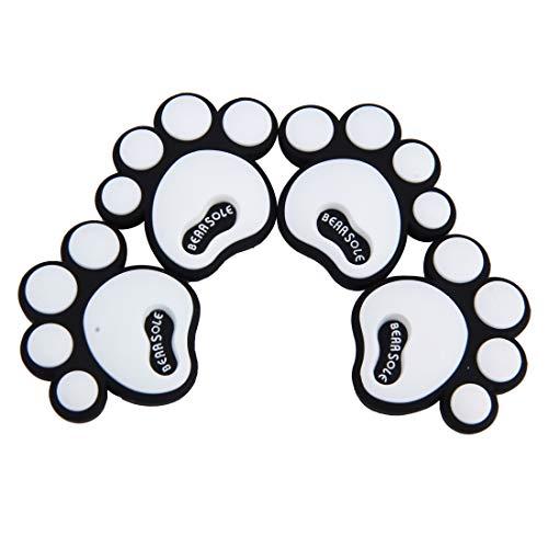 Auto deur beschermer strlps Creatieve Hond Voetafdruk Vorm Cartoon Stijl PVC Auto Bescherming Anti-scratch Deur Guard Decoratieve Sticker 4 Stks Kleur: wit