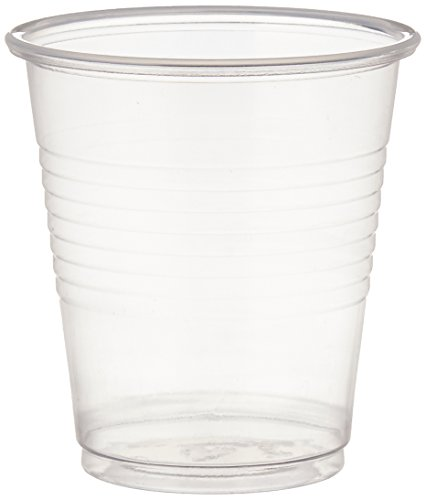Dynarex Disposable Plastic Drinking Cups, Clear, 100 Count