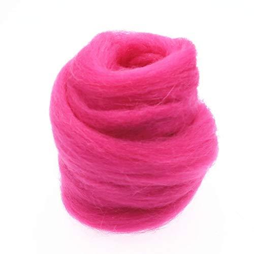 Qitao Wollfilz Farben 5g / 10g / 20g / 50g / 100g Filzwolle-Filz Stoff Filz Craft Spielzeug Filzwolle Handgemachte Filzen Craft (Color : 106, Size : 10g)