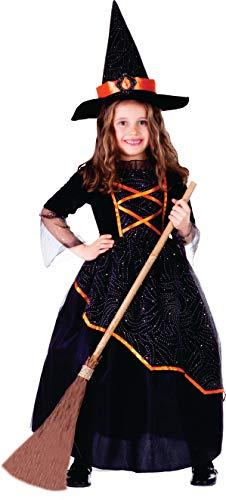 Dress Up America Déguisement de sorcière noire et orange petite fille