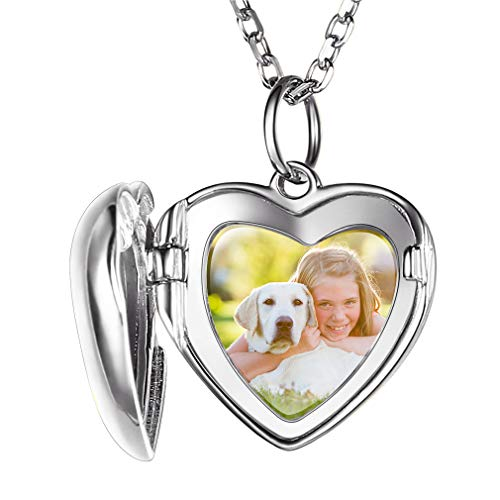 Custom4U Lockets Necklace,18+2 inches,Picture in Necklace,Personalised Necklace for Mother, Custom Engraved Gifts for Mum Necklace