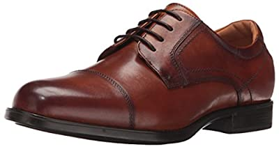 Florsheim Men's Medfield Cap Toe Oxford Dress Shoe, Cognac, 9 Medium