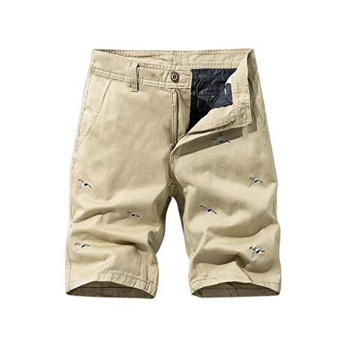 serliy Herren Cargo Shorts Baumwolle Bermuda Vintage Casual Kurz Hose Kurz Wanderhose Atmungsaktiv Trekkinghose Multi Taschen Sommer Radhose