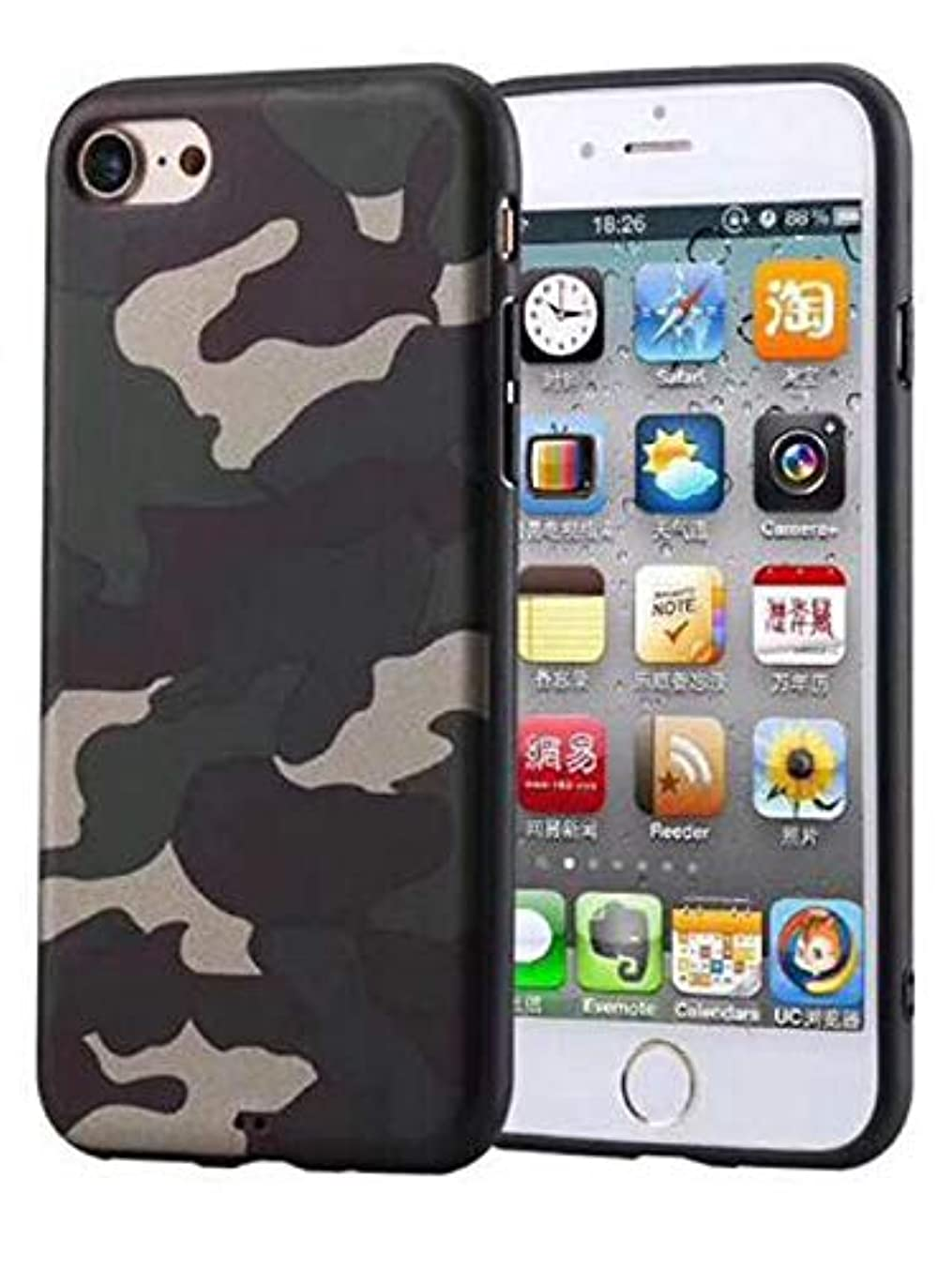 iPhone 6 case,iPhone 6s case Shockproof Armor Soft TPU Slim Fit Camouflage Case for Apple iPhone 6/ 6S - Camo Green