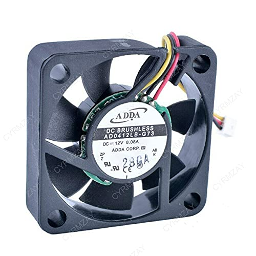 CYRMZAY Compatible for ADDA AD0412LB-G73 12V 0.08A 40840 * 10MM 4CM 3Pin Cooling Ventilador