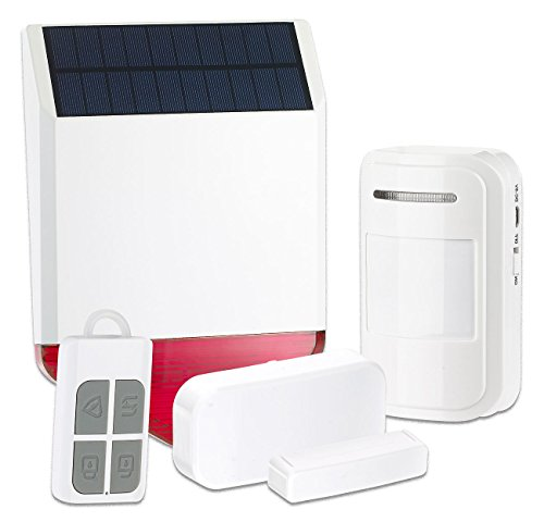 VisorTech Solar Alarmanlage: Solar-Funk-Alarmalage XMD-4400.Easy, 110 dB, 5-teiliges Starter-Set (Außensirene)