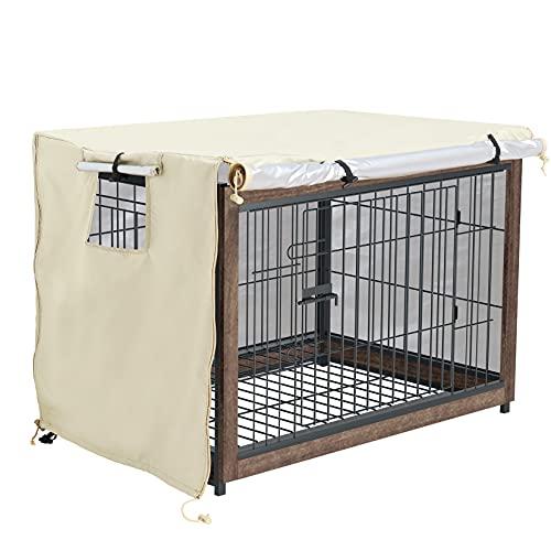 BingoPaw ペットサークルカバー 犬用ケージカバー 120 防音 夏 通気 防寒 水洗い可能 防水 落ち着ける空間作り ファスナー付き 取り付け簡単 124*79*84cm
