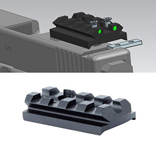 TuFok Sight Mount Plate for Glock - G17 19 22 23 26 27 34 Rail for Install Pistol Red Dot Sight(4-Slot)
