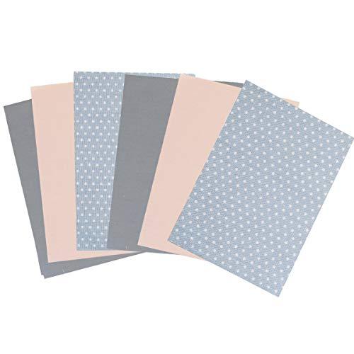Goldschmidt Trachten Stoffpaket Soft Pastels Stoff Patchwork Baumwolle Set 6 Stücke 35cmx25cm Masken (Soft Pastels)